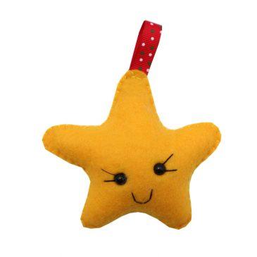 Ornament de Craciun handmade Steluta din fetru