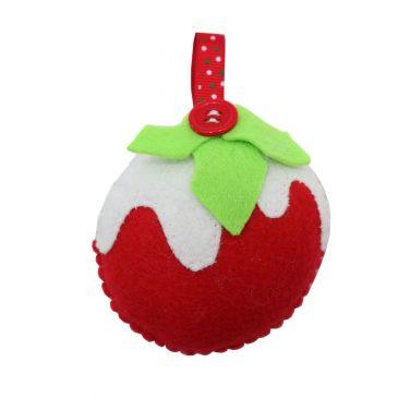 Ornament handmade din fetru Glob de Craciun