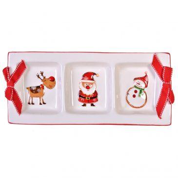 Platou 3 compartimente Craciun Sweet Christmas