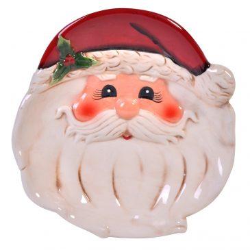 Platou ceramica Craciun Santa Claus