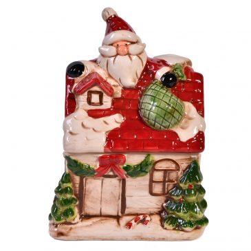 Recipient pentru turta dulce Here comes Santa