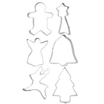 Set 6 forme fursecuri de Craciun Sweet Christmas