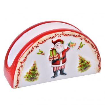 Suport ceramica servetele Craciun Dear Santa