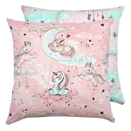 Fata de perna aurie cu unicorni Pony Pink