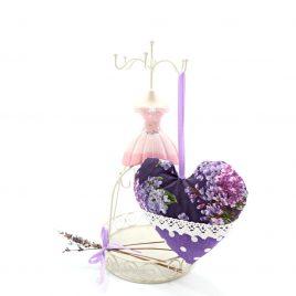 Inimioara shabby chic cu lavanda Lilacs Violet