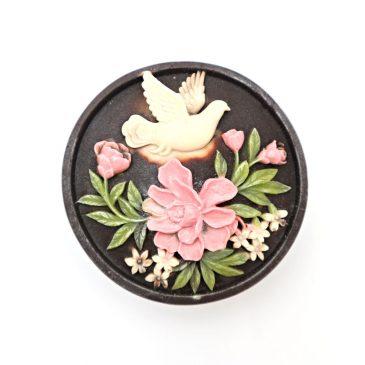 Sapun handmade cu ciocolata Porumbel si Flori