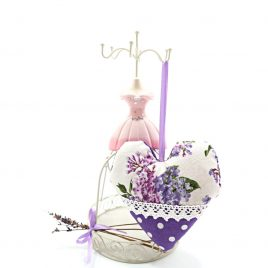 Inimioara cu lavanda shabby chic Lilacs Cream
