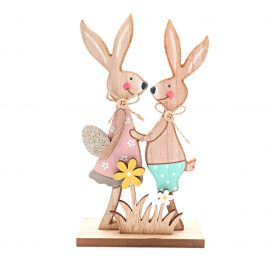 Decoratiune Iepuri de Pasti Bunny Love