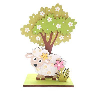 Decoratiune Pom inflorit cu Oita din lemn