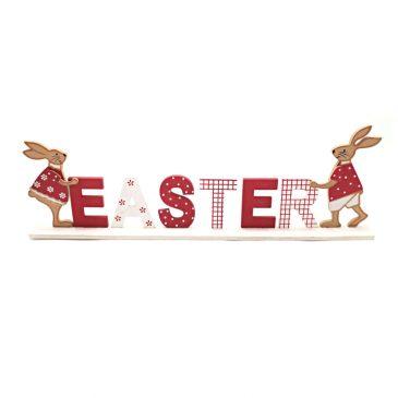 Decoratiune de Paste cu iepuri si litere 3D