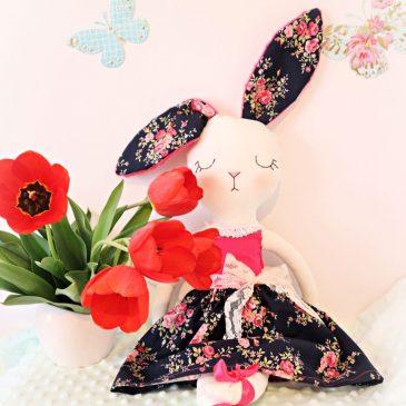 Iepuras textil handmade decorativ Bunny