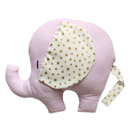 Pernuta Elefantel handmade cu stelute aurii Pink